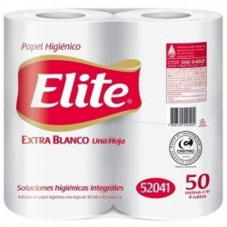 PAPEL HIG.  4 ROLLOS 50 MT. H/S ELITE
